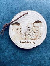 💙 padres día 💙 Personalised Colgante Madera Rebanada 9-10cm