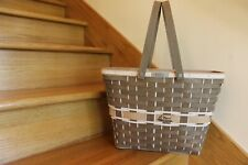 Longaberger Star Performer Basket Tote signed Tami! Putty 13 *shipping included*