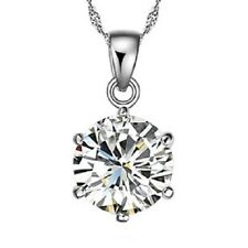 Sterling Silver pendant Swarovski Element necklace and Earrings Set w/box