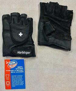 Schwarz Harbinger Herren s Training Grip Gewichtheben Handschuhe Blau