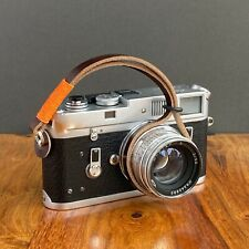 Brown Handmade Horween Leather Camera Wrist Strap -  Fits Fuji, Leica etc