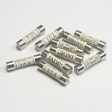 10 x 10 Amp Fuses Domestic Household Fuse Electrical Appliances Mains Plug Fuses