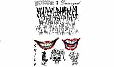 The Joker Temporary Tattoos Suicide Squad Costume Halloween Fancy Dress Batman
