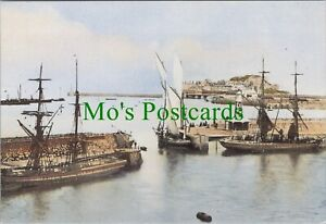 Shipping Postcard - The Golden Era of Shipping - St Peter Port c1870 - RR10961
