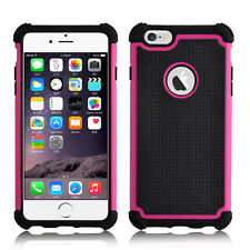 Sooper Heavy Duty Survivor Protective Hybrid Defender Case for iPhone 6s Plus Hot Pink