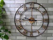 NEW Wall Clock 47cm BERTHA Metal Industrial Big Vintage French Provincial
