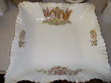 Square Coronation Bowl Queen Alexandria & King Edward VII