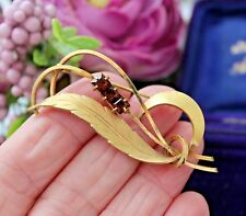 VINTAGE ROLLED GOLD ANDREAS DAUB PIN BROOCH. VINTAGE BROOCHES