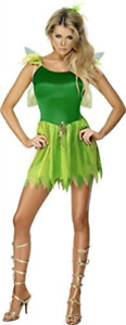 Woodland Fairy Costume, Green, with Dress, Headpiece and Wings -  (.. COST-W NEW