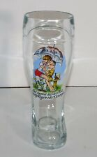German Glass Beer Boot Novelty 0.5L Find Love Despite The Rain