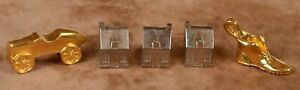 Franklin Mint Monopoly 1991 Parker Brothers 3 Silver Plated Houses Shoe Car