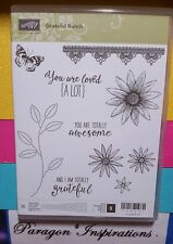 NEW Stampin Up GRATEFUL BUNCH Photopolymer Stamps Daisy Flower Stem Blossom