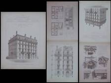 LYON, 31 AVENUE FOCH - 1890 - GRAVURES ARCHITECTURE, ISAAC COLLOMB