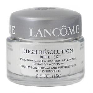 Lancome Triple Action Renewal Anti-Wrinkle Cream SPF 15 Sunscreen / 0.5 oz