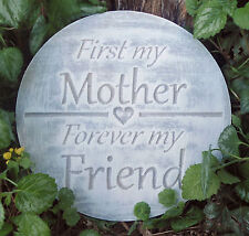 """Mother mold """"First my Mother, forever my friend"""" plaque plaster concrete mould"""