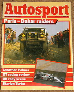 Autosport 10/1/85* RALLY REVIEWS - IRISH SCOTTISH & WELSH - PARIS-DAKAR RALLY