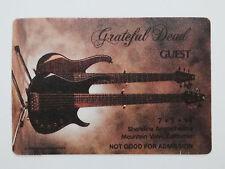 Grateful Dead Backstage Pass Phil Lesh Modulus Bass Guitars Shoreline 7/2/1994