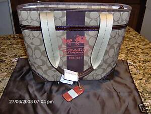 NEW COACH HERITAGE SMALL TOTE 11349 PURSE BAG HANDBAG