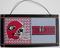 New University of Georgia Bulldogs College Licensed Wooden Sign Sport Fan Team