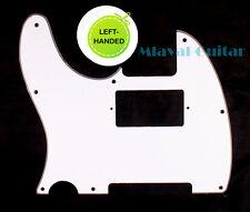(C19) 3 Ply Left Handed Guitar Pickguard For Telecaster Tele humbucker ,White