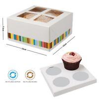 Muffin Hada Cupcake Box 6 CAJAS INDIVIDUAL PASTEL Taza Pasteles Con Insertos En Paquete