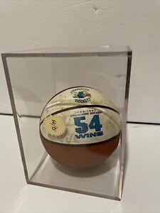 1996-97 NBA 54 Wins Charlotte Hornets Signed Mini Basketball Rice Divac No COA