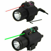 Tactical Combo Flashlight Green/Red Dot Laser Sight Scope W/ Pressure Switch