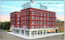 CORSICANA, Texas  TX   NAVARRO HOTEL  ca 1940s Linen   Kropp Postcard