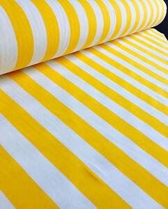 Amarillo Blanco a Rayas Tela Sofia Rayas Cortina Tapicería Material 280cm Ancho
