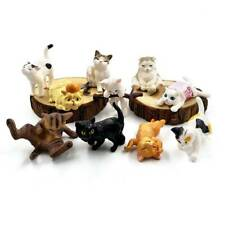 10 Pcs Cat Figurine Miniature Lifelike Kitten Animal Decor Mini Fairy Garden Toy