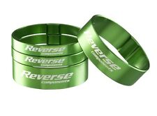 Reverse,aumento PORCHE,Superlight Spacer aluminio, Set 2x5mm, 2x10mm, Verde
