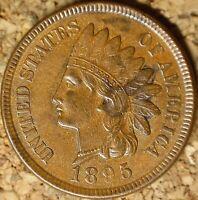 1895 Indian Head Cent - BEAUTIFUL NEAR MINT AU+++ (M085)