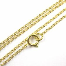 Necklace 1mm Rolo Chain (All Sizes) 22K Gold plated Sterling Silver Vermeil