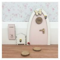 Pink Fairy Door Personalised With Accessories And Letterbox