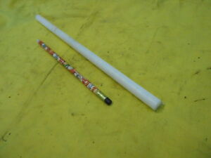 """WHITE DELRIN ROD - machinable plastic round bar stock acetal 1/2"""" x 12"""" OAL"""