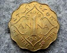 INDIA BRITISH GEORGE VI 1944 1 ANNA, CALCUTTA MINT UNC LUSTRE