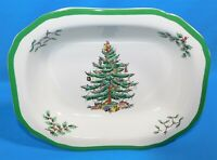 "SPODE Christmas Tree 9"" Vegetable Serving Bowl England NEW with Tag"