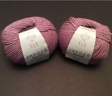 Jaeger Roma Yarn Lavender Purple 014 Lot Of 2 Skeins Italy Viscose Angora 50g