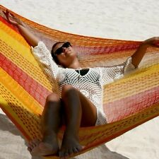Sale-Beautiful handmade Mexican Single hammock In Multi Or Natural Colours