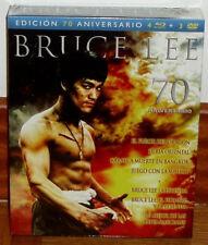 BRUCE LEE EDICION 70º ANIVERSAERIO 4 PELICULAS+3 DOCUMENTALES 4 BR+1 DVD NUEVO
