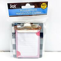 "Jot Checkered Black Mini Clipboard With Notepad 40 Sheets 3.25"" x 3.50"""