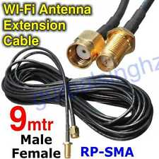 9M WiFi WAN Router Wi-Fi Antenna Extension Cable RP-SMA 30Ft