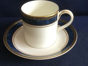 Royal Doulton Stanwyck coffee can & saucer (second -rim gilt wear on cup )