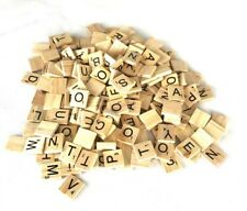 100pcs Mix Wooden Scrabble Tiles Letters Craft Alphabet Board Game Fun Toy Gift