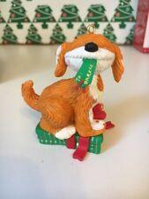 Rare Sesame Street Barkley The Dog Jim Henson Christmas Grolier Ornament In Box
