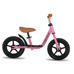 """10""""/12"""" Kids Balance Bike with Footrest for Girls & Boys, Ages 18 12 Inch pink"""