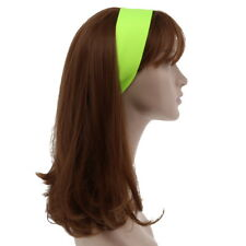Soft Neon Yellow Headband Stretchy Head Band Adjustable Girls Hairband Headwrap