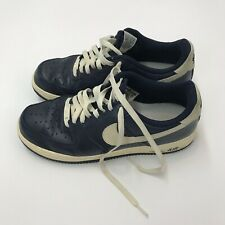 Nike Mens Blue Shoes Size 10 Leather Material
