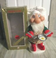 Vintage Woolworth Motionette Animated Santa Claus Santakin Kitchen Elf w/Box 20""