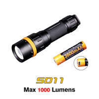 Fenix SD11 Neutral White LED 1000lms Scuba Diving Flashlight Torch + USB Battery